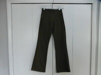 "ATHLETA BETTONA Classic Pants Low Rise Flare Leg Brown Size XXS  33"" Inseam"