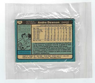 1980 Hunts Bread Pack Opc Unopened W/ Andre Dawson On Back Expos O-Pee-Chee