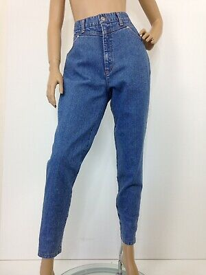 Vintage 80s 90s high waisted stretch mom jeans by Salute Jeanswear label size 16
