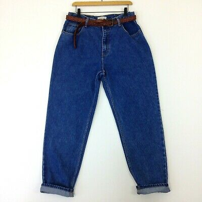 Vintage 1990s high rise mom jeans by Jeanjer mid blue vintage wash size 18