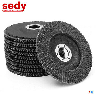 "25x 125mm 5"" Flap Disc Wheel Angle Grinder Metal Grinding Sanding"