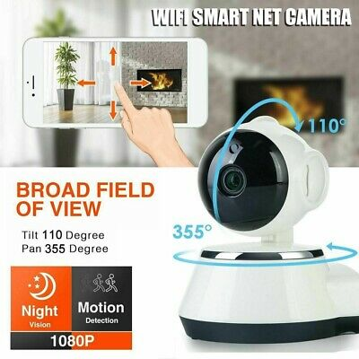 360 °Telecamera Ip Camera Full Hd 1080P Wireless Ir Lan Wifi Rete Internet