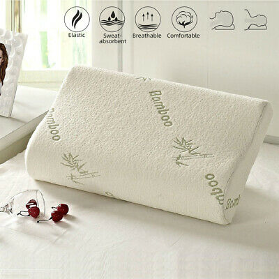 AU Bamboo Cervical Orthopaedic Contour Memory Foam Firm Pillow Neck Back Support
