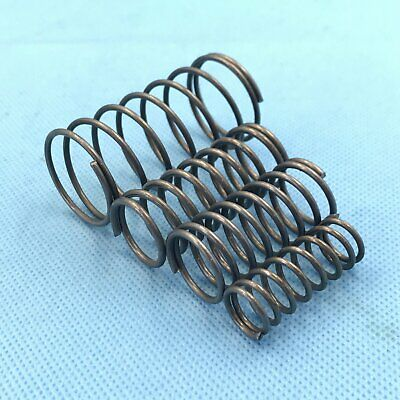 2 Pcs Steel Helical Compression Springs,Wire dia 1.3mm, OD 14mm, long 85mm