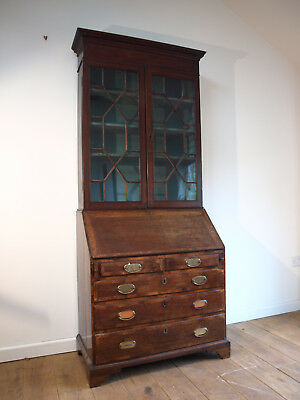 Large Georgian / Early Victorian Bookcase Bureau Secretaire Writing Desk