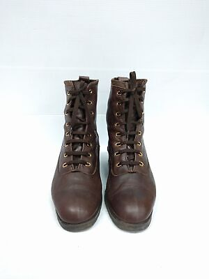 Sz 40 Vintage Ladies brown INDIANA ITALY brown soft leather lace up ankle boots