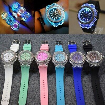 Digital Sport LED Watch Wrist Watches Flash Backlit Quartz Kids Boy Girls GIFTS