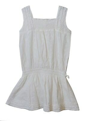 Girls Next White Floral Embroidered Fully Lined Sleeveless Dress Age 6 Years