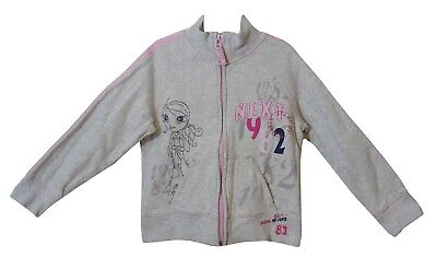 Girls Next Grey Marl Pink Fashion Chic Zipped Embroidered Jacket Age 6 Years