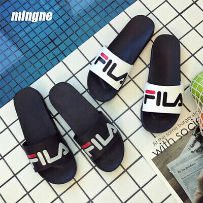 Men's Women Slipper Slip Flat Slides Filp Flop Stripe Summer Beach Mules Sandals