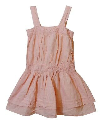 Girls Vertbaudet Pink Embroidered Layered Sleeveless Tunic Dress Age 7 Years