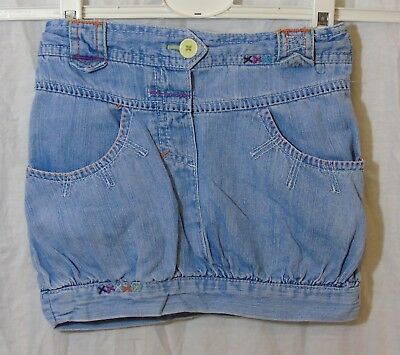 Girls Cherokee Stonewashed Blue Denim Adjustable Waist Skirt Age 2-3 Years
