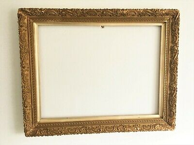 Antique Victorian Ornate Wood /Gesso Rococo Style Gilt Picture Frame