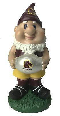Brisbane Broncos NRL Solar Powered Light-up Ball Design Gnome