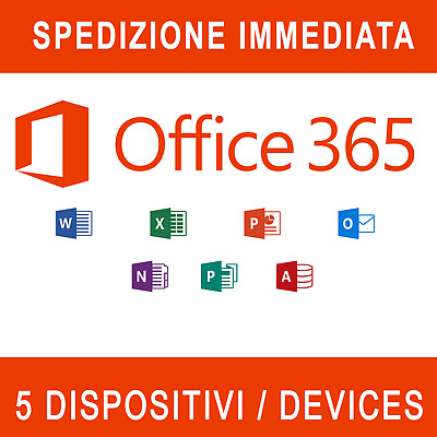 Office 365 / 2019 Pro Plus Lifetime ✅ 5 Dispositivi ✅ Invio istantaneo