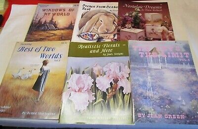 Lot Of 6 Vintage Susan Scheewe Painting Books, Country, Flowers