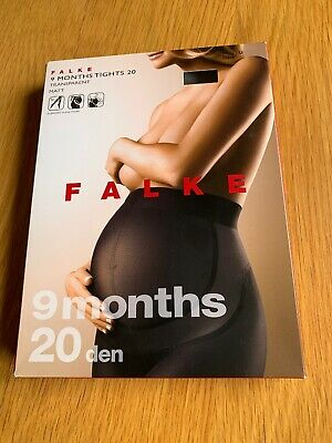 Falke 9 Months 20 Denier Maternity Tights S/M Black New in Box! Support Function
