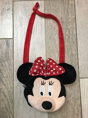 Official Disney Girls Minnie Mouse Red Bow Plush Purse Handbag Fast Shipping