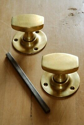 Vintage Brass Door Knobs Mid Century Reclaimed & Restored Mortice Door Hardware