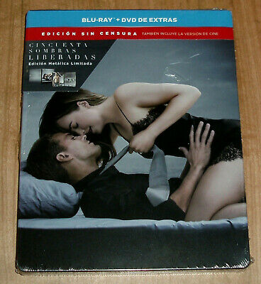 Fifty Shades Released Steelbook Blu-Ray + DVD Limited Edition New (No Open) a, B
