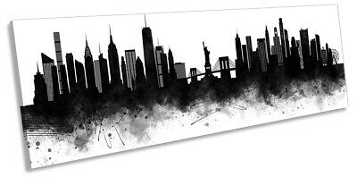 Boston Skyline Abstract Watercolor Painting Art Print by Artist DJ Rogers
