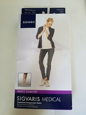 Sigvaris 862C Select Comfort 20-30 Calf Compression Stockings Women's Size XS