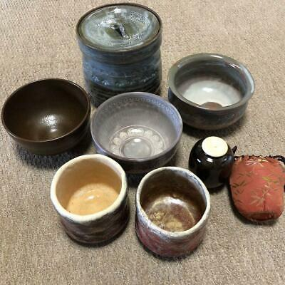 Tea Caddy Ceremony Cup Japanese Traditional Craft Sets Lots from JAPAN t17