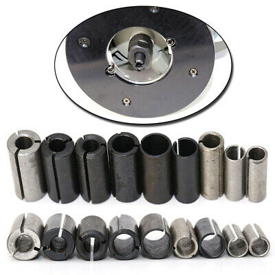 """1//2/"""" to 1//4/"""" Carbon Steel Black Router Collet Reduction extender Sleeve Tool VBU"""