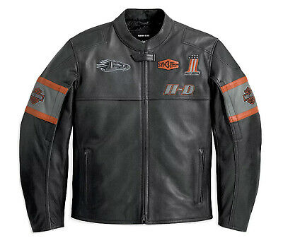 Men's Harley Davidson Motorbike Leather jacket Eagle Style Motorcycle Jacket