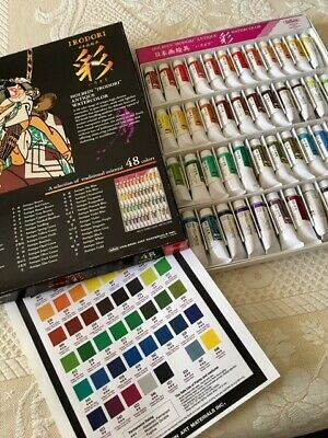 Holbein IRODORI Antique Watercolor Set 48 colors 15ml tubes Beautiful Colors