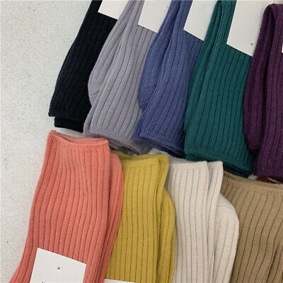 Japanese High School Girls High Socks Loose Solid Colors Cotton Long Socks Women