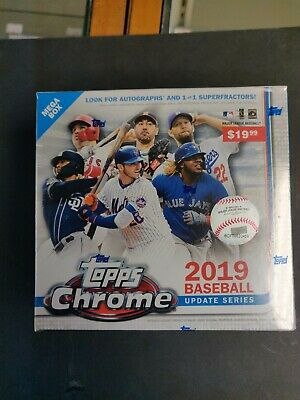 2019 Topps CHROME Update Series Mega Box 🔥 factory sealed. NEW! ⚾️