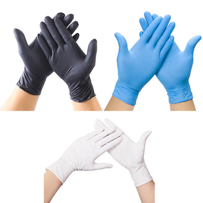 100Pcs Comfortable Rubber Mechanic Nitrile Gloves Cleaning Food Safety Gloves