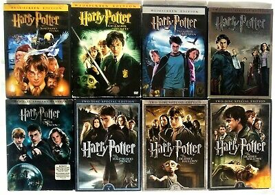 Harry Potter ~ The Complete Series [1-8] (DVD, 14-Discs) 1 2 3 4 5 6 7 8