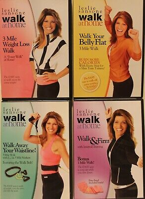 4 Leslie Sansone Walk at Home DVD lot 3 mile weight loss firm interval training