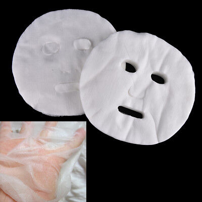 100X Disposable Facial Mask Cotton Paper Facemask DIY Cosmetic Face Skin Care KR