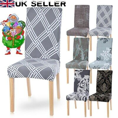 Elastic 4/6 Dining Chair Covers Home Seat Covers Kitchen Banquet Slipcovers Xmas