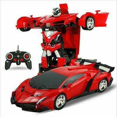 XMAS GIFT Sport Car Transformation Robot Remote Control Deformation RC Toy New