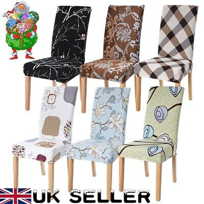 Dining Chair Covers Wedding Party Home Seat Covers Stretch Spandex Christmas UK