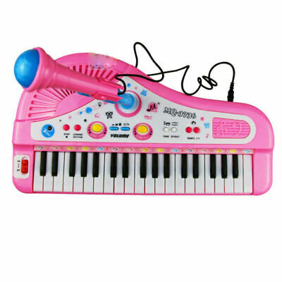 37 Key Kids Electronic Keyboard Piano Musical Toy with Microphone for Children's