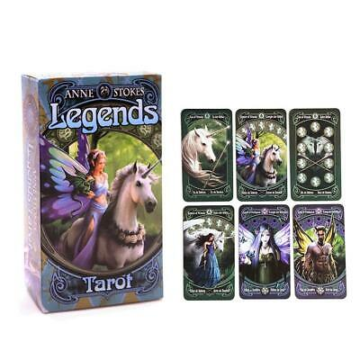 "78X Tarot Cards Deck Board Games "" Anne Stokes Legends "" Tarot Deck Oracle"