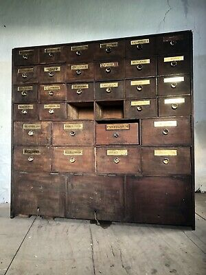 "19thC Antique Apothercary Drawers By ""JOHN CURTIS & SON LEEDS"""