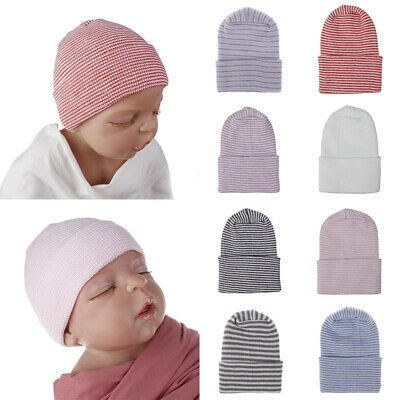 Baby Soft Striped Knitted Cap Newborn Infant Outdoor Casual Beanie Hospital Hats