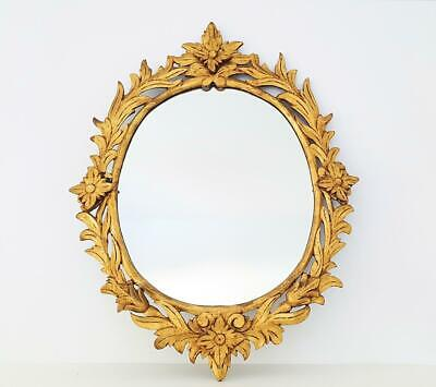 Espejo antiguo madera pan de oro / Antique  wood gold leaf mirror