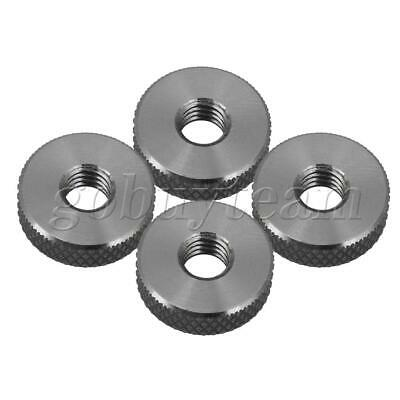 304 Stainless Steel M6 Thread Knurled Nuts Thumb Nuts 16x5mm Pack of 5