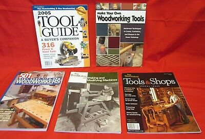 Lot of 5 Woodworking Books, Catalogs, Tools & Shops, Guide, Making Machines