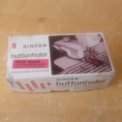 Singer Buttonholer 489510Z for Zig-Zag Sewing Machines + 12 Templates 1950s/60s