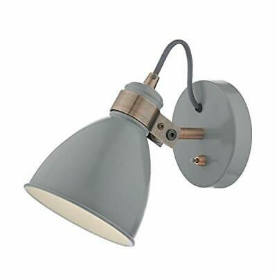 Dar Lighting Frederick Wall Mount Single Spotlight, Grey and Copper Satin