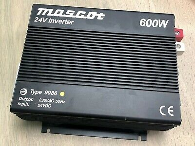 Mascot Type 9986 24V 600W Power Inverter - 230Vac