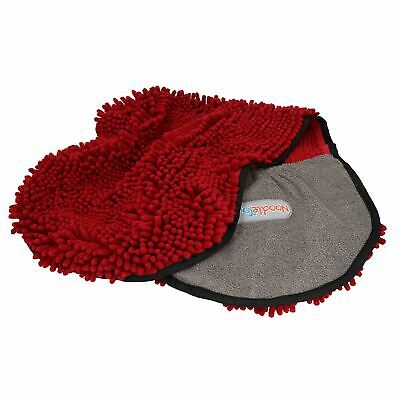 Extremely Absorbent Red Microfiber Dog Cat Pet Noodle Towel Quick Drying